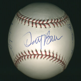 THE CHICAGO CUBS - AUTOGRAPHED SIGNED BASEBALL CO-SIGNED BY: DUSTY BAKER, KYLE FARNSWORTH, JASON DUBOIS, KERRY WOOD, SERGIO MITRE