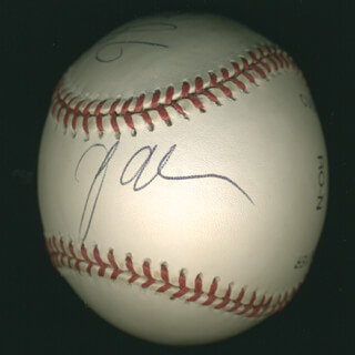 Autographs: N SYNC - BASEBALL SIGNED CO-SIGNED BY: N SYNC (CHRIS KIRKPATRICK), N SYNC (J. C. CHASEZ)