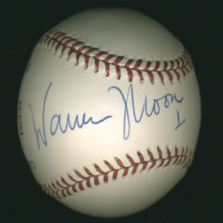 Autographs: WARREN MOON - BASEBALL SIGNED