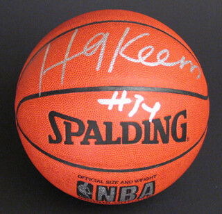 HAKEEM OLAJUWON - BASKETBALL SIGNED
