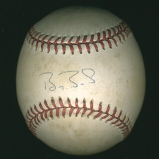 Autographs: BARRY L. BONDS - BASEBALL (GAME USED) SIGNED