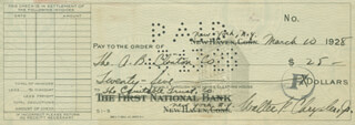 WALTER P. CHRYSLER, JR - AUTOGRAPHED SIGNED CHECK 03/10/1928