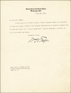 PRESIDENT WILLIAM H. TAFT - TYPED LETTER SIGNED 03/26/1923