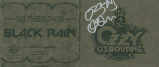 Autographs: OZZY OSBOURNE - DVD/CD COVER SIGNED