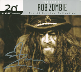 ROB ZOMBIE - DVD/CD COVER SIGNED