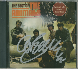 Autographs: THE ANIMALS (ERIC BURDON) - DVD/CD COVER SIGNED