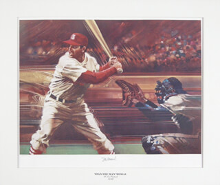 STAN THE MAN MUSIAL - LITHOGRAPH SIGNED