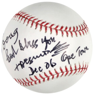 Autographs: BISHOP DESMOND TUTU - INSCRIBED BASEBALL SIGNED 12/2006