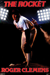 Autographs: ROGER CLEMENS - POSTER SIGNED
