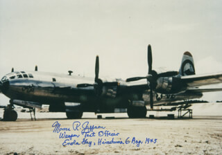 ENOLA GAY CREW (MORRIS JEPPSON) - AUTOGRAPHED SIGNED PHOTOGRAPH