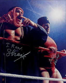 NIKOLAI VOLKOFF - AUTOGRAPHED SIGNED PHOTOGRAPH CO-SIGNED BY: IRON SHEIK