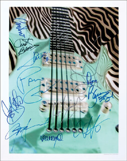 JOHN MAYALL - AUTOGRAPHED SIGNED PHOTOGRAPH CO-SIGNED BY: JONNY LANG, DREAM THEATRE (JOHN PETRUCCI), BADFINGER (JOEY MOLLAND), ISLEY BROTHERS (ERNIE ISLEY), YARDBIRDS (CHRIS DREJA), SAVOY BROWN (KIM SIMMONDS), .38 SPECIAL (JEFF CARLISI), .38 SPECIAL (DON BARNES), MR. BIG (PAUL GILBERT), CHUCK BROWN AND THE SOUL SEARCHERS (CHUCK BROWN)