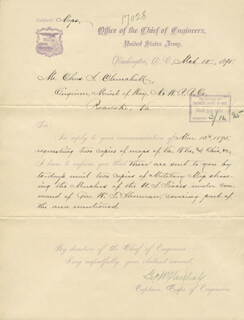 Autographs: MAJOR GENERAL GEORGE W. GOETHALS - MANUSCRIPT LETTER SIGNED