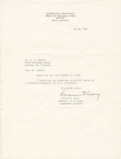 GENERAL LUCIUS D. CLAY - TYPED LETTER SIGNED 05/29/1948