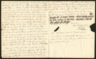 ROBERT KEELEY - AUTOGRAPH LETTER SIGNED 10/13/1828