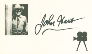 JOHN HART - PRINTED CARD SIGNED IN INK