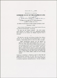 Autographs: ASSOCIATE JUSTICE CLARENCE THOMAS - TYPESCRIPT SIGNED