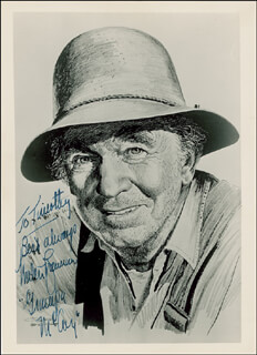 WALTER BRENNAN - AUTOGRAPHED INSCRIBED PHOTOGRAPH