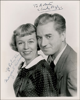 JANUS - PLAY CAST - AUTOGRAPHED INSCRIBED PHOTOGRAPH CO-SIGNED BY: CLAUDE DAUPHIN, MARGARET SULLAVAN