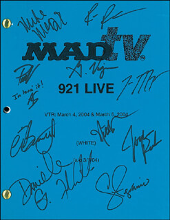 MAD TV TV CAST - SCRIPT SIGNED CO-SIGNED BY: MICK MCDONALD, FRANK CALIENDO