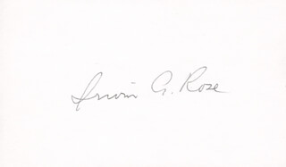 Autographs: IRWIN A. ROSE - SIGNATURE(S)