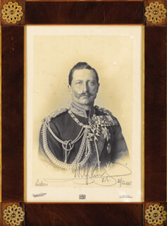EMPEROR WILLIAM II - AUTOGRAPHED SIGNED PHOTOGRAPH 03/30/1905  - HFSID 277670