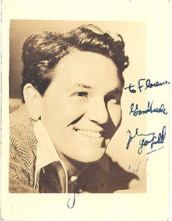 JOHN GARFIELD - AUTOGRAPHED INSCRIBED PHOTOGRAPH