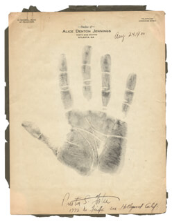 PRESTON S. FOSTER - HAND/FOOT PRINT OR SKETCH SIGNED  - HFSID 277686
