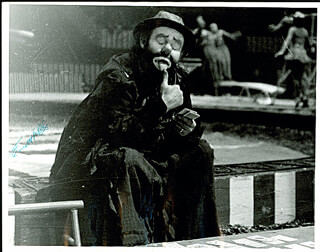 EMMETT KELLY SR. - AUTOGRAPHED SIGNED PHOTOGRAPH