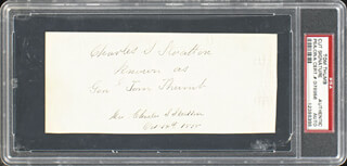 CHARLES S. TOM THUMB STRATTON - AUTOGRAPH 10/14/1878 CO-SIGNED BY: LAVINIA (MRS. TOM THUMB) STRATTON