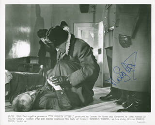 MAX VON SYDOW - PRINTED PHOTOGRAPH SIGNED IN INK