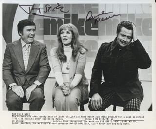 JERRY STILLER - AUTOGRAPHED SIGNED PHOTOGRAPH CO-SIGNED BY: ANNE MEARA