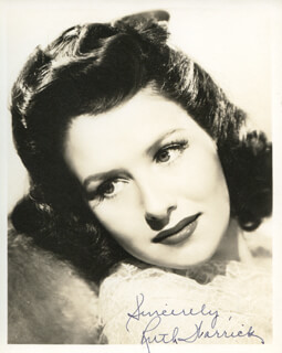 RUTH WARRICK - AUTOGRAPHED SIGNED PHOTOGRAPH