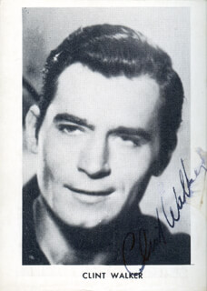 CLINT WALKER - AUTOGRAPHED SIGNED PHOTOGRAPH