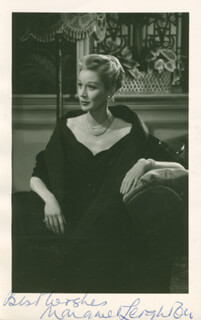 MARGARET LEIGHTON - AUTOGRAPHED SIGNED PHOTOGRAPH