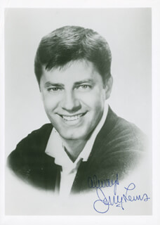 JERRY LEWIS - AUTOGRAPHED SIGNED PHOTOGRAPH
