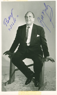 ROBERT MORLEY - AUTOGRAPHED SIGNED PHOTOGRAPH