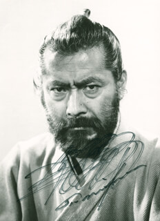 TOSHIRO MIFUNE - AUTOGRAPHED SIGNED PHOTOGRAPH