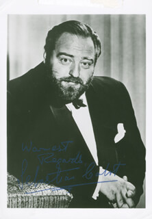 SEBASTIAN CABOT - AUTOGRAPHED SIGNED PHOTOGRAPH