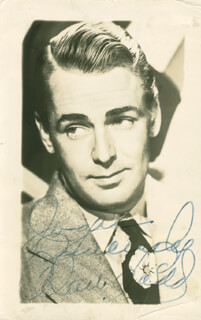ALAN LADD - AUTOGRAPHED INSCRIBED PHOTOGRAPH