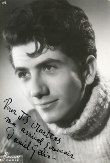 DANIEL GELIN - AUTOGRAPHED INSCRIBED PHOTOGRAPH