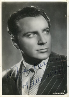 ROSSANO BRAZZI - AUTOGRAPHED INSCRIBED PHOTOGRAPH