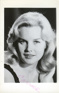 CARROLL BAKER - INSCRIBED PICTURE POSTCARD SIGNED