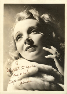 VIRGINIA BRUCE - AUTOGRAPHED INSCRIBED PHOTOGRAPH
