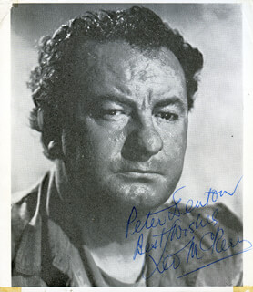 LEO McKERN - AUTOGRAPHED INSCRIBED PHOTOGRAPH