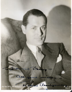 ROBERT MONTGOMERY - AUTOGRAPHED INSCRIBED PHOTOGRAPH
