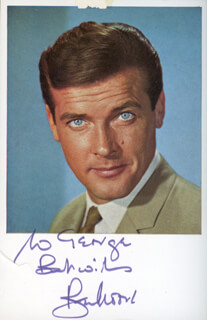 ROGER MOORE - AUTOGRAPHED INSCRIBED PHOTOGRAPH