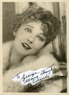 DOROTHY MACKAILL - AUTOGRAPHED INSCRIBED PHOTOGRAPH