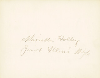 MARIETTA JOSIAH ALLEN'S WIFE HOLLEY - AUTOGRAPH