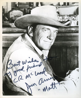 JAMES ARNESS - AUTOGRAPHED INSCRIBED PHOTOGRAPH